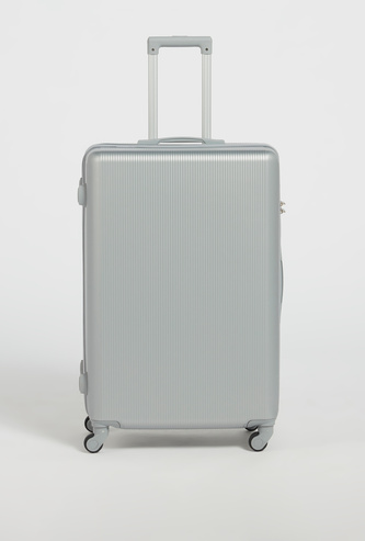Textured Hardcase Trolley Bag with Retractable Handle