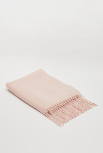 Textured Scarf with Fringes