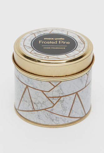 Frosted Pine Scented Jar Candle with Lid