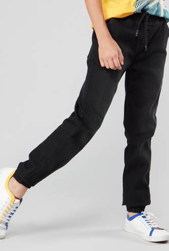 Full Length Jog Pants with Pocket Detail and Drawstring