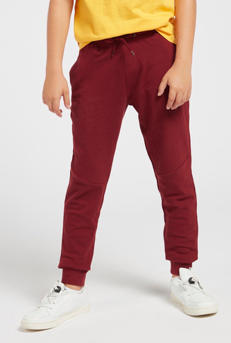 Full Length Solid Pique Jog Pants with Pockets