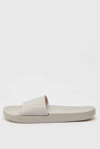 Solid Slides with Text Embossed Strap