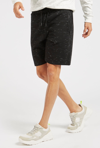 Space Dyed Shorts with Pocket Detail and Drawstring Closure