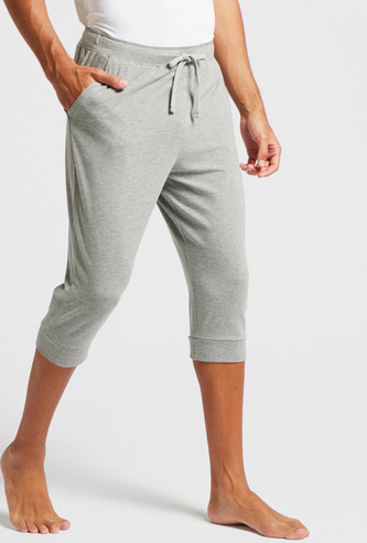 Knitted Lounge Pants with Drawstring Closure