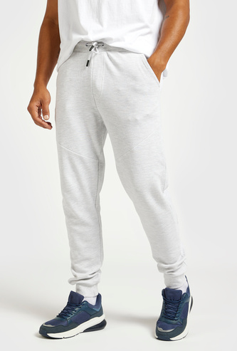 Textured Joggers with Elasticated Drawstring Waistband and Pockets