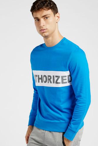 Panel Blocked Oversized Sweatshirt with Long Sleeves