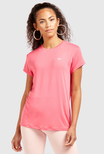 Solid T-shirt with Crew Neck and Short Sleeves