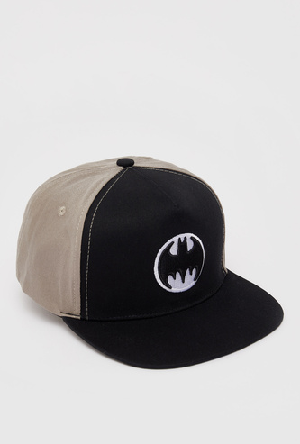 Batman Embroidered Detail Cap with Snap Closure