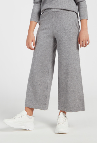 Textured Culottes with Pockets and Elasticated Waistband