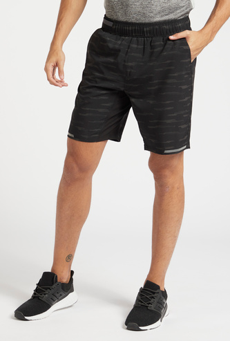 All-Over Print Shorts with Pocket Detail and Elasticised Waistband
