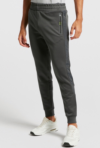 Solid Jog Pants with Pocket Detail and Drawstring Closure