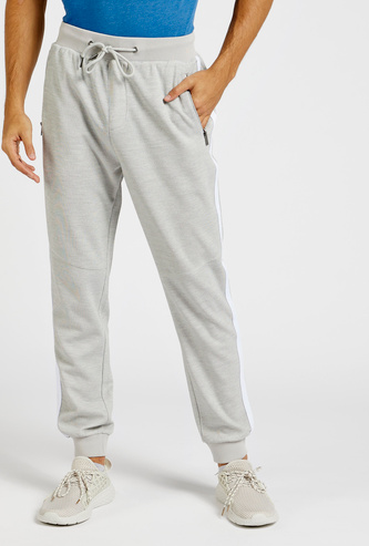Slim Fit Solid Jog Pants with Pocket Detail and Drawstring Closure