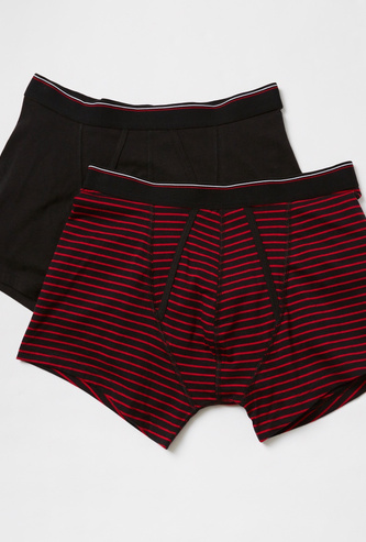 Set of 2 - A Front Boxers with Elasticised Waistband