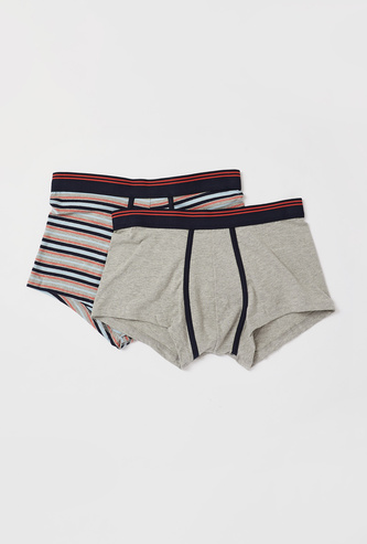 Set of 2 - Assorted Hipster Briefs with Elasticised Waistband