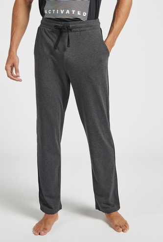 Full Length Knitted Lounge Pants with Pockets and Drawstring