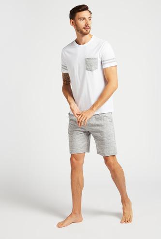 Printed Short Sleeves T-shirt with Shorts Set
