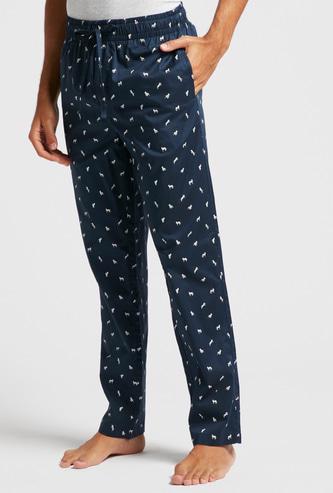 Printed Lounge Pyjamas with Drawstring Closure