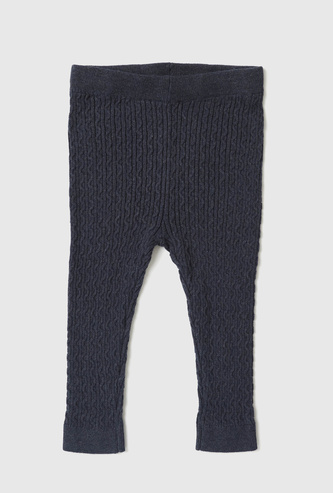 Cable Knit Mid-Rise Leggings