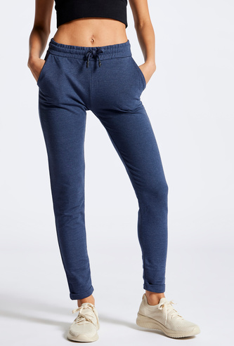 Full Length Track Pants  with Pocket Detail and Drawstring