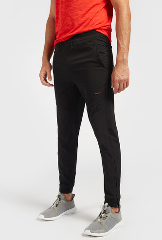 Solid Slim Fit Jog Pants with Pockets and Elasticated Waistband