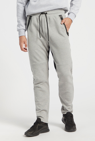 Solid Joggers with Drawstring Closure and Pockets