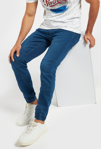 Full Length Mid-Rise Jog Pants with Pockets