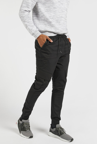 Full Length Solid Jog Pants with Pockets