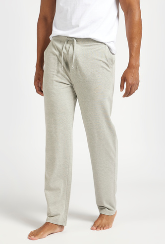 Solid Pyjamas with Pockets and Drawstring