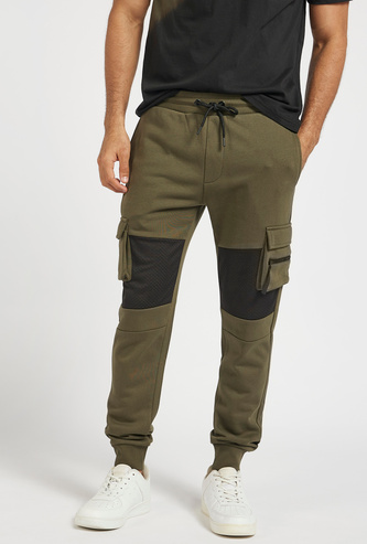 Mesh Panelled Cargo Pants with Pockets