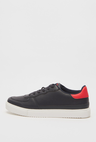 Solid Lace-Up Sneakers