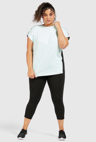 Quick Dry Solid Leggings with Elasticated Waistband
