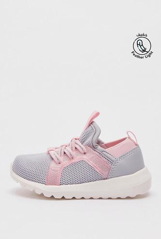 حذاء رياضي بارز الملمس وسهل الارتداء بتفاصيل جليتر