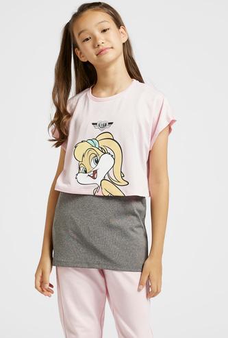 Lola Bunny Print T-shirt with Cap Sleeves