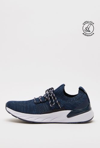 Textured Sports Shoes with Lace-Up Closure