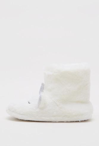 Unicorn Plush Slip-On Bedroom Slippers