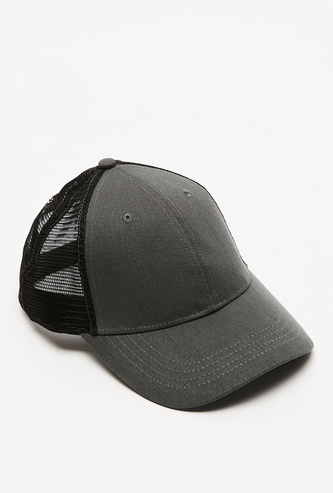 Solid Cap with Mesh Detail and Snap Closure