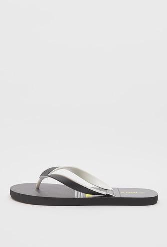 Striped Slip-On Flip Flops