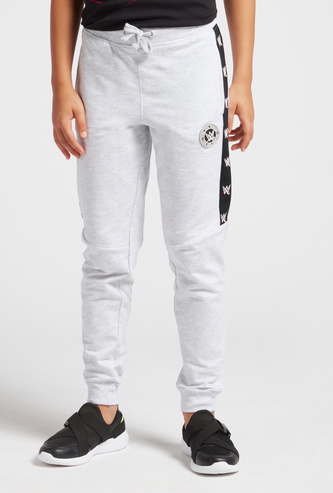 WWE Side Tape Jog Pants with Pockets and Drawstring