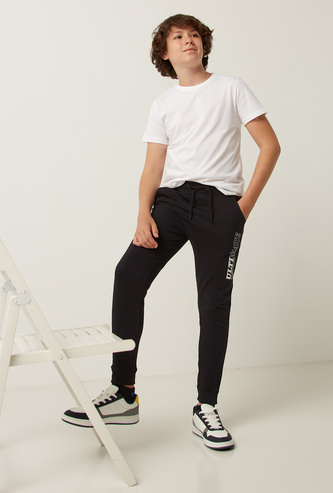 Full Length Printed Jog Pants with Elasticised Waistband and Pocket Detail