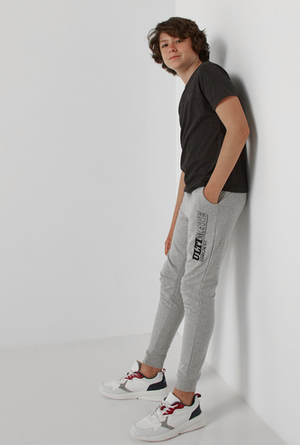 Printed Full Length Jog Pants with Elasticised Drawstring