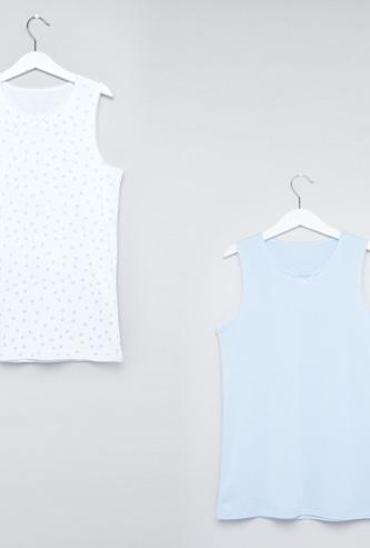 Lace Detail Sleeveless Vest - Set of 2
