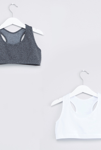 Racerback Seamless Sports Bra with Elasticised Band - Set of 2