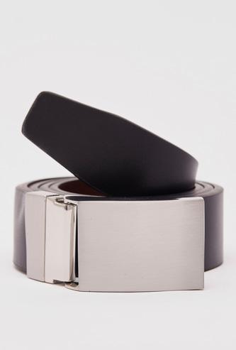 Solid Belt with Metallic Buckle