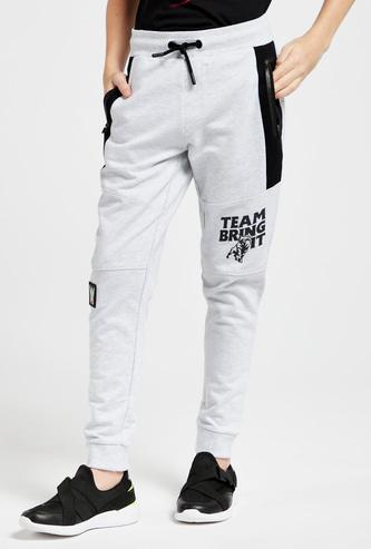 Full Length WWE Printed Jog Pants with Pockets