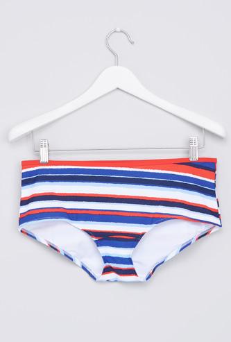 Striped Swimming Bikini Briefs