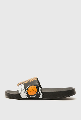 Space Jam Print Beach Slippers