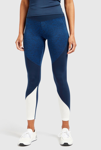 Slim Fit Leggings with Panel Detail and Elasticised Waistband