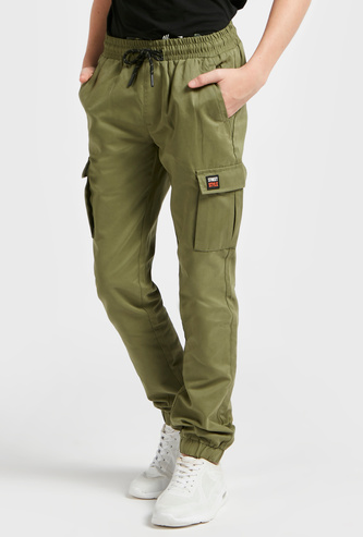 Full-Length Comfort-Fit Joggers with Pockets and Elasticated Waist