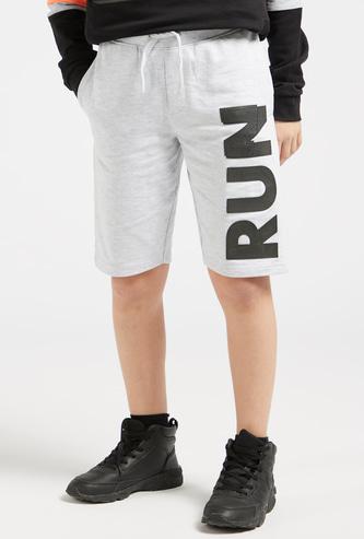 Printed Knee Length Shorts with Drawstring Closure