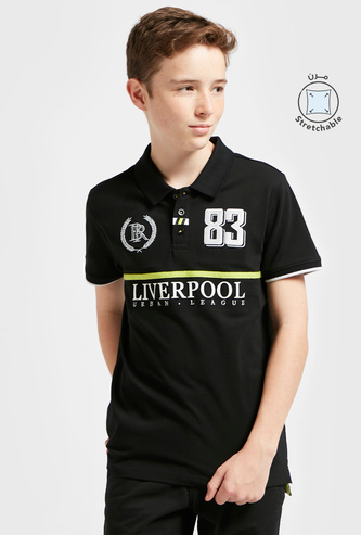 Liverpool Print Polo T-shirt with Short Sleeves